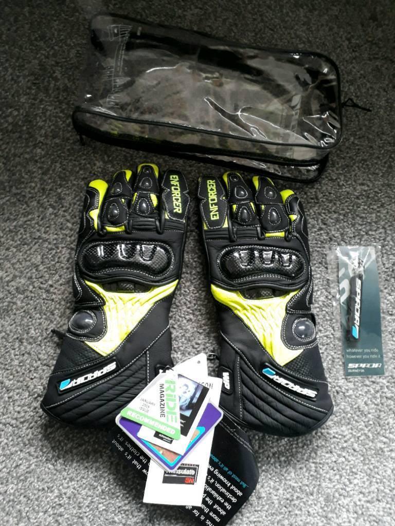 Spada enforcer motorbike motorcycle gloves medium