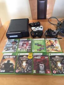 Xbox 360 120gb with 4 controllers
