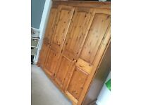 Pine Bedroom furniture FOR SALE - Double wardrobe, Drawer unit and 2x bedsores units