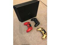 Sony PS4 Pro 1TB Boxed with 12 Games 3 Controllers