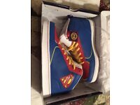 DC comics superman trainers size 9 blue, red and white
