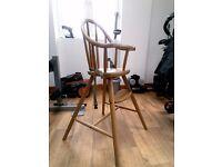IKEA Shaker style wooden highchair