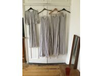 Four Bridesmaid Dresses, beaded