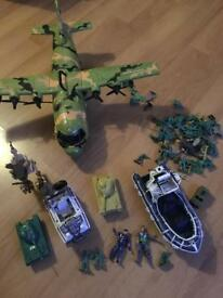 Army men and vehicles
