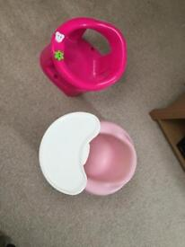 Girls bumbo and bath seat