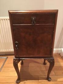 Walnut side unit vintage table