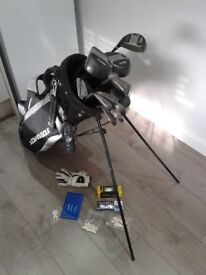 FULL SET WILSON GOLF CLUBS + ADAMS GOLF BAG WITH STAND + LOADS OF FREE EXTRAS see description