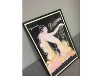 Stunning vintage Gesmar - Doriane Imp Kaplan Paris framed Print NY Fashion music rare retro SDHC
