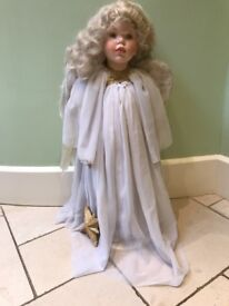 Large porcelain angel doll