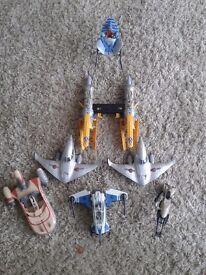 Star wars toys boys job lot vehicles