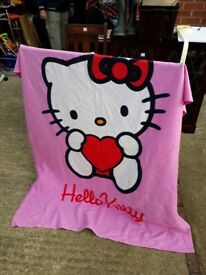 Blanket - Hello Kitty. Kids girls boys pink