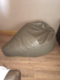 Large Faux Leather Bean Bag Pear Shape