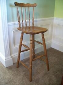 Breakfast Bar Stool x 2 - Both in Good Condition
