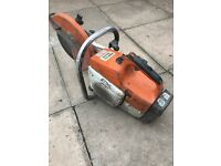 stihl saw ts400 good starter with blade ready to use handle needs attention but does not effect use