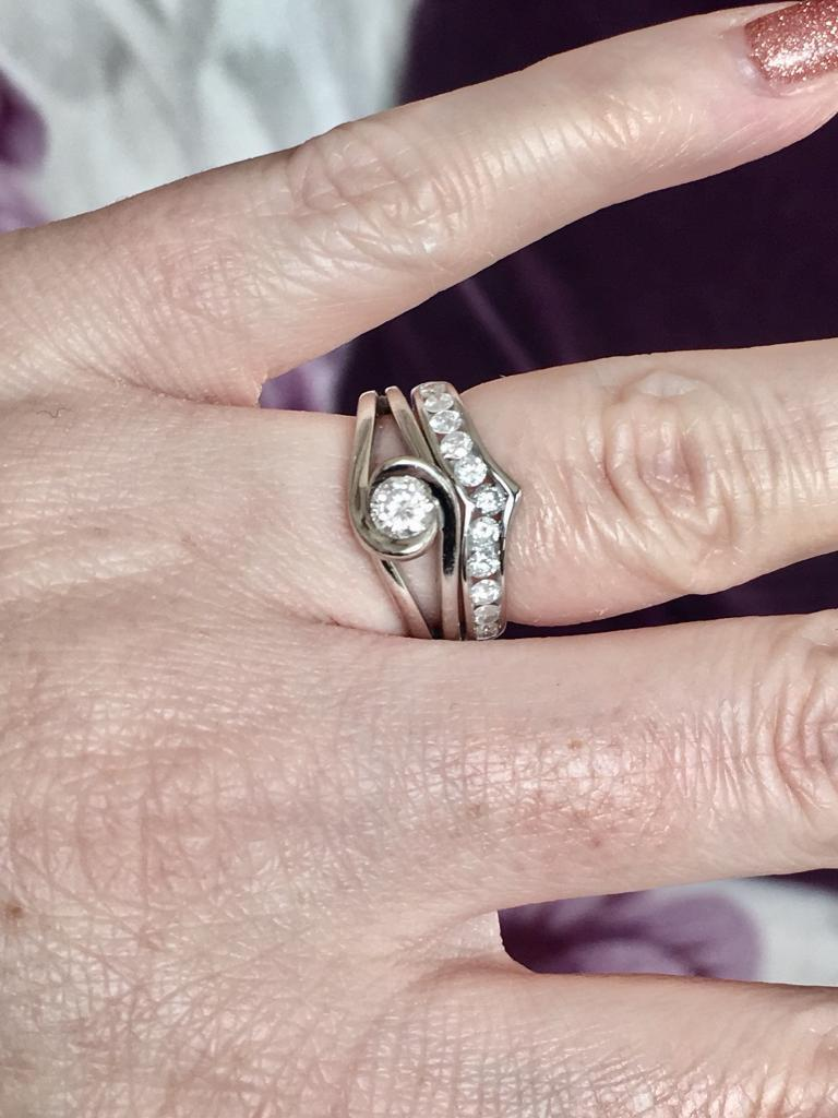 White gold diamond rings | in Leicester, Leicestershire | Gumtree