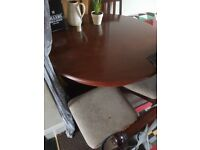 4 chair dining table £30