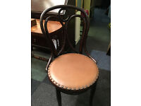 Charming Vintage Thonet Bentwood Upholstered Parlour Occasional Chair