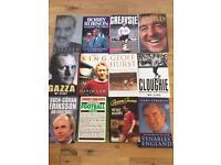 Rare Vintage Genuine Signed Autobiographies. Football / Cricket