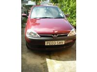Vauxhall Corsa Club 1.2 2003, 5 door hatchback, very low mileage, only 2 owners