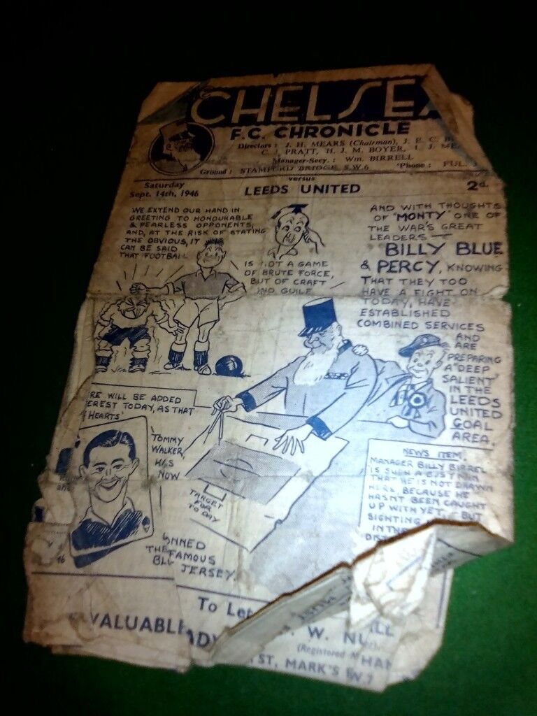Rare 1930's league info and 1940's Football programme,