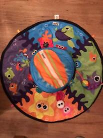 Lamaze spin and explore tummy time spinner and mat
