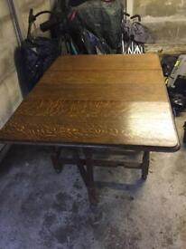 Solid Oak Folding table - priced to sell