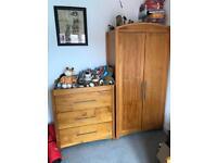 Nursery furniture set including cot/bed