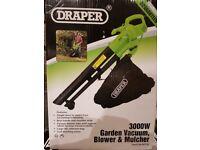Draper 3000 watt Garden Vacuum, Blower & Mulcher - USED