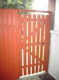 New Slatted wooden gates. Side gate, Passage gate. All sizes made. Free delivery Norwich area