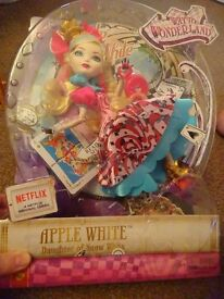 New ever after high apple white way to wonderland only £7 ideal gift