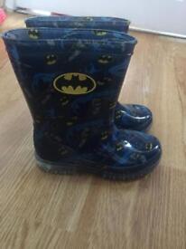 New Batman light up wellies size 10