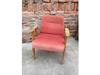 AWESOME Vintage 60s LISTENING CHAIR Quirky Furniture Seat Decor Mid-Century