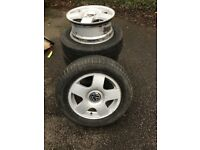 """Volkswagen Caddy/Golf 15"""" alloys x5. Excellent condition, hardly any marks. Bought in error."""