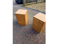 Bedside tables with drawers