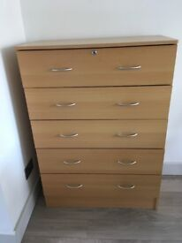 Chest of five drawers 80 x 40 x 112 cm