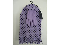 NEW. Gloves & Scarf 2 piece set by M&S. Unwanted gift.