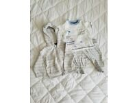 3 piece baby outfit - Up to 3 months -Sainsbury's. Never worn. Hoodie, trousers , body suit