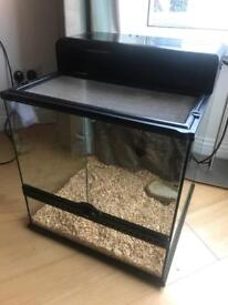 Reptile tank with built in light and uv light