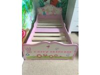 Pink Happy Princess Toddler Bed Excellent Condition