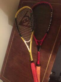 Squash Rackets x2 Dunlop