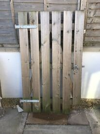 Garden gate with fixings from Fountain Timber