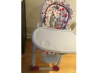 Chicco-Polly Progres5 Highchair -USED ONLY 6 MONTHS