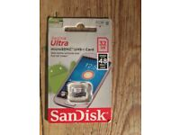 Memory card sandisk 32GB up to 48 MB/s