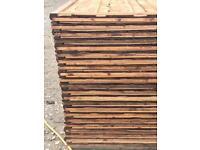 🌷Brown Wayneylap New Fence Panels > Pressure Treated