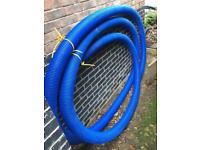 100mm blue twin wall flexible ducting approx 13m