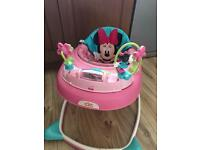 Pink Minnie Mouse Baby Walker