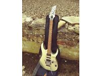 Ibanez Rg 450AH Silver & mirrored scratch plate (very rare) 1999 Made In Japan