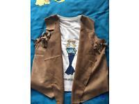 Girls waistcoat & top set