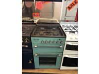 LEISURE 55CM ALL GAS COOKER IN GREEN WITH LID