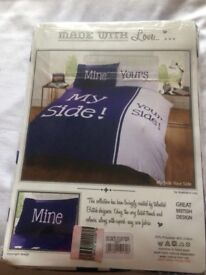 My side / Your side double duvet set new